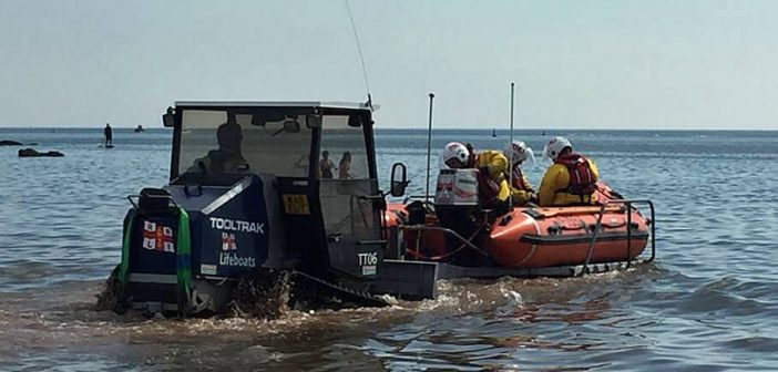 Exmouth RNLI rescues stricken paddleboarders from sea off Budleigh Salterton