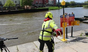 The newly-installed throw line at Exeter Quay. Image: Exeter City Council