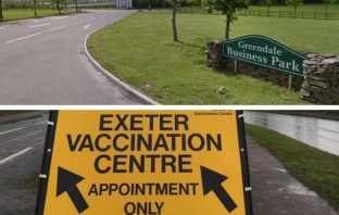 The venue of a large-scale Covid vaccination site serving East Devon and Exeter is to switch from Westpoint to Greendale Business Park from May 7.