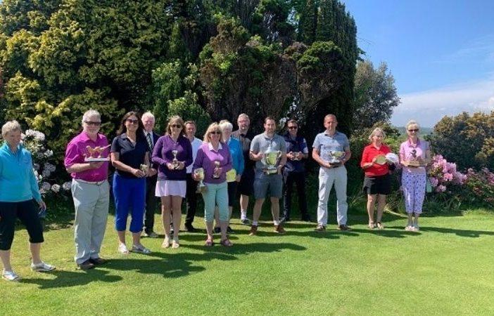 East Devon Golf Club 2020 winners. Image: East Devon Golf Club