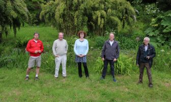 Sidmouth Members of the Sid Valley Biodiversity Group (l-r) Jon Ball, Charles Sinclair, Sheila Meades, Stefan Drew and Ed Dolphin. Picture: Sid Valley Biodiversity Group