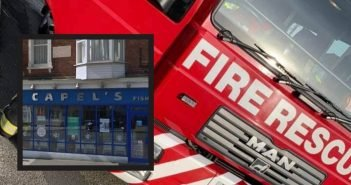 Residents evacuated from flats after fire breaks out in Exmouth fish and chip shop