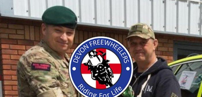 PTSD survivor holds back tears of joy as Honiton 'hidden hero' gifts his Royal Marine green beret
