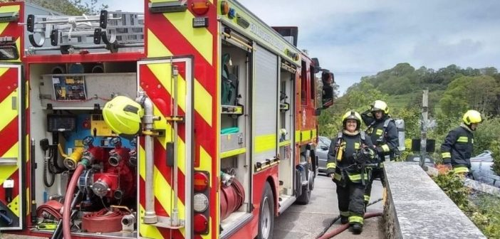 Laundry is damaged as clogged tumble drier filter sparks fire in East Devon village