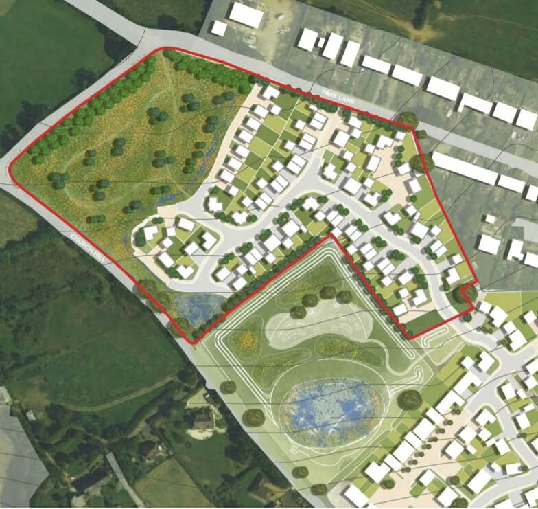 plans for the Home Farm site. Image: Waddeton Park Ltd, from the planning application.