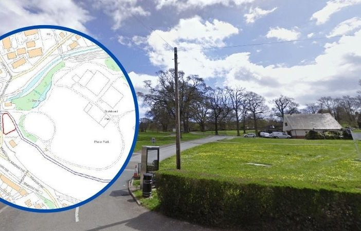 A 12-bay new parking area is being created at Phear Park in Exmouth. Main image: Google Maps. Inset image: East Devon District Council