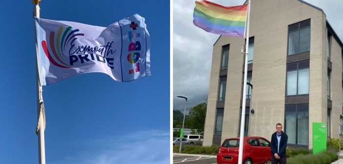 Pride flags fly in East Devon in a bid to celebrate difference and tackle hate