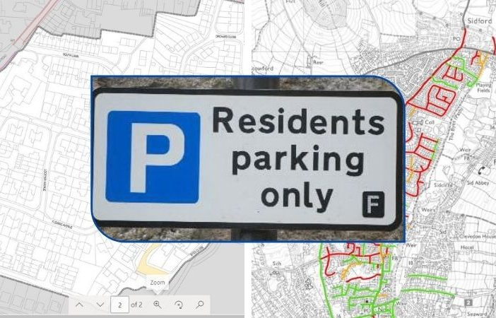 Devon County Council is asking householders in areas of Sidford for their views on residents' parking.