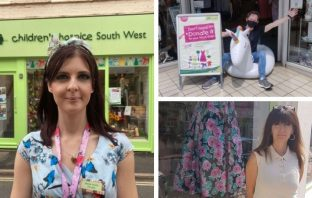 Children's Hospice South West charity shop managers in East Devon: Left, Emma-Louise Lee in Sidmouth; Top right - Simon Hayes in Exmouth; Bottom right - Kate Salter in Budleigh Salterton. Photos: Children's Hospice South West