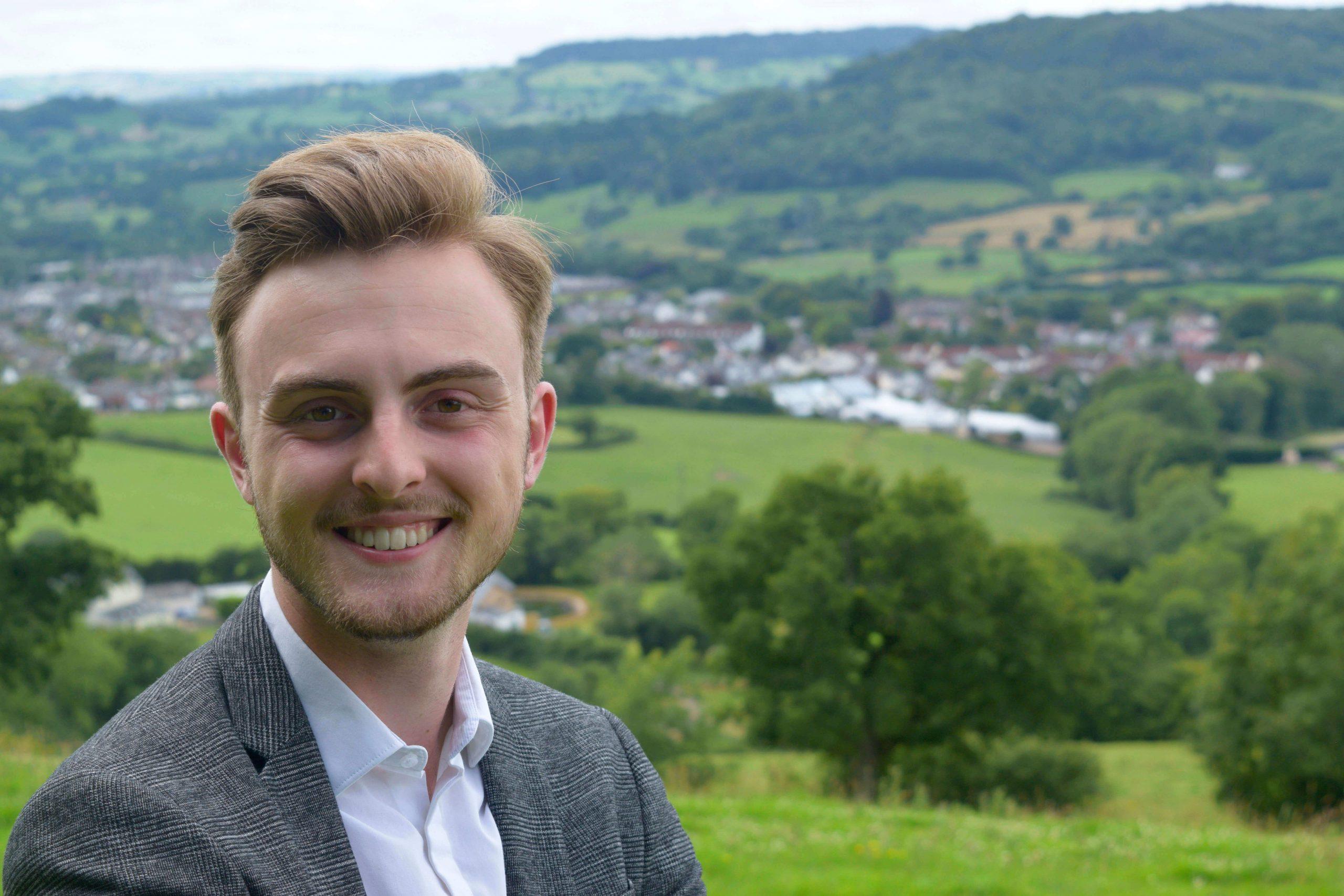 East Devon Jake Bonetta, aged 19, won in the Honiton St Michael's ward. Image: Jake Bonetta