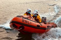 The Exmouth RNLI inshore lifeboat attending the rescue. Image: James Searle / RNLI