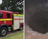 'Death trap' huge sand hole on Exmouth beach prompts safety warning from firefighters and Coastguard
