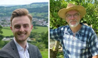 Left, Jake Bonetta, aged 19, won in the Honiton St Michael's ward. Image: Jake Bonetta. Right, Alasdair Bruce won in Feniton. Image: Tiverton and Honiton Conservatives